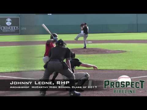 Johnny Leone Prospect Video, RHP, Archbishop Edward McCarthy High School Class of 2017