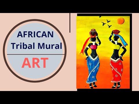 DIY Mural Art on canvas #Shilpkar clay Art#Komali Arts