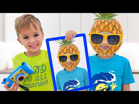 Vlad and Niki play with photos | Funny videos for kids