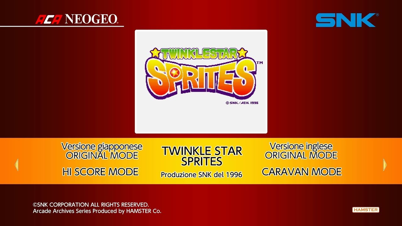ACA NEOGEO TWINKLE STAR SPRITES for Switch Game Reviews
