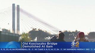 Old Kosciuszko Bridge Brought Down In Controlled Demolition