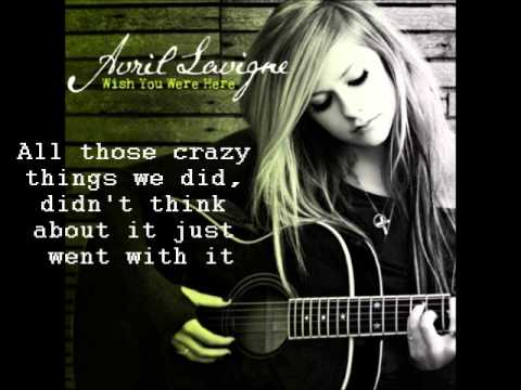 Guitar guitar tablature wish you were here : Wish You Were Here (clean) Avril Lavigne lyrics - YouTube