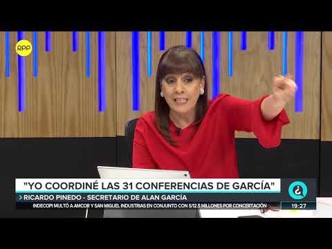 Ricardo Pinedo, secretario de Alan García: 'Yo coordiné las 31 conferencias de García'.