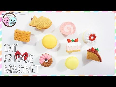 DIY FRIDGE MAGNETS, KAWAII FOOD MAGNETS - SUGARCODER