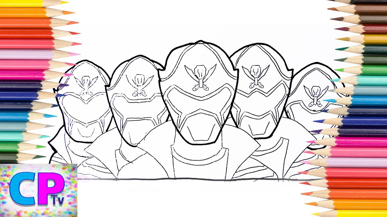 Power Rangers Megaforce Coloring Pages How To Color Power Rangers