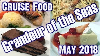 Grandeur Of The Seas - Main Dining Room Dinner Menus & Food - 9-Day Itinerary May 2018 - ParoDeeJay
