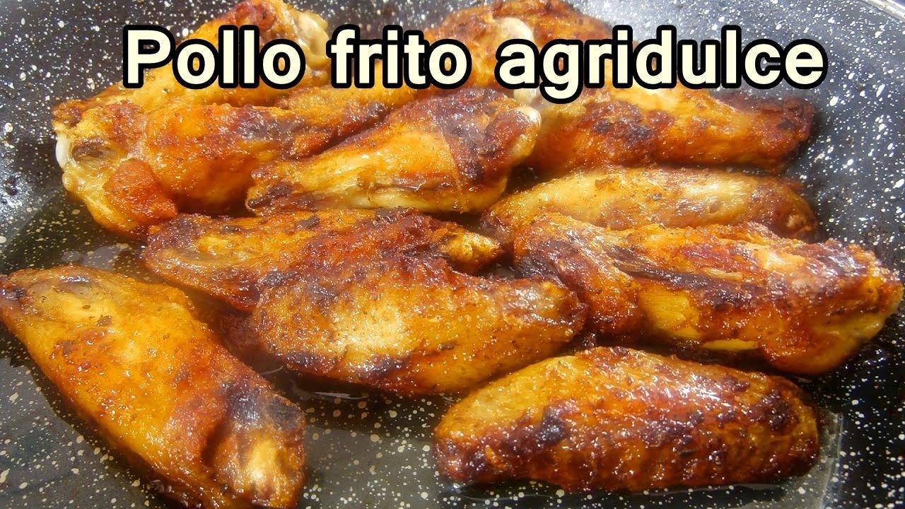 POLLO FRITO AGRIDULCE FACIL  Recetas de Cocina Faciles