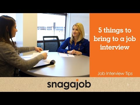 Job Interview Tips (Part 6): 5 Things to Bring to a Job Interview