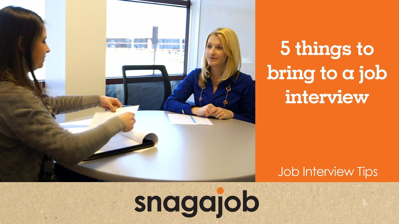 Job Interview Tips (Part 6): 5 Things to Bring to a Job Interview - YouTube