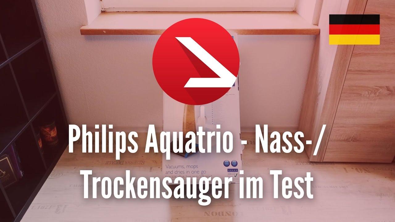 Philips Aquatrio Nass Trockensauger Im Test Youtube