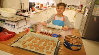 Making Gingerbread Cookies and Surprise Eggs