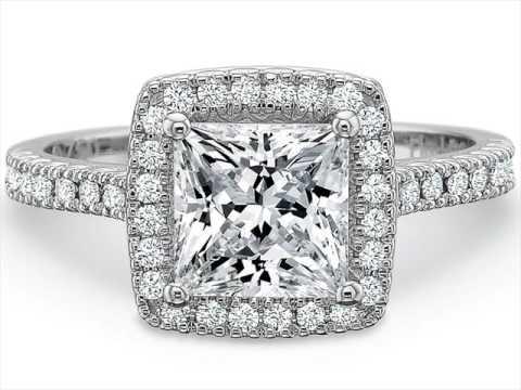 Princess Cut Wedding Rings White Gold UK