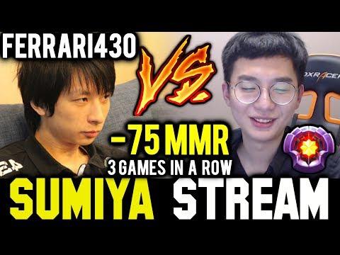3 Games in a Row! SUMIYA vs FERRARI430 | Sumiya Invoker Stream Moment #497