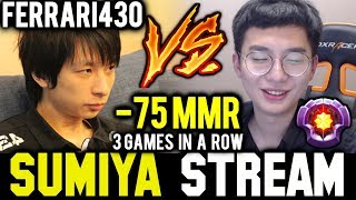 3 Games in a Row! SUMIYA vs FERRARI430 | Sumiya Invoker Stream Moment #496