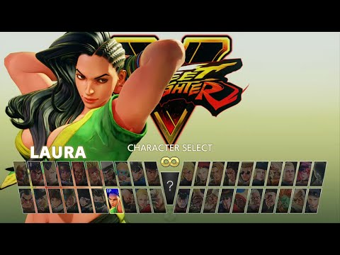 Street Fighter V Arcade Edition All Mode Characters Selection Screen [ZERO]