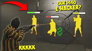 USANDO WALLHACK NO ASSALTO A BANCO - GTA RP