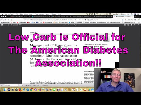 Low Carb is Official for the American Diabetes Association!