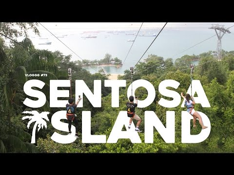 TRAVEL-VLOGGG #73: SINGAPORE - 1/2 KM FLYING FOX RIDE
