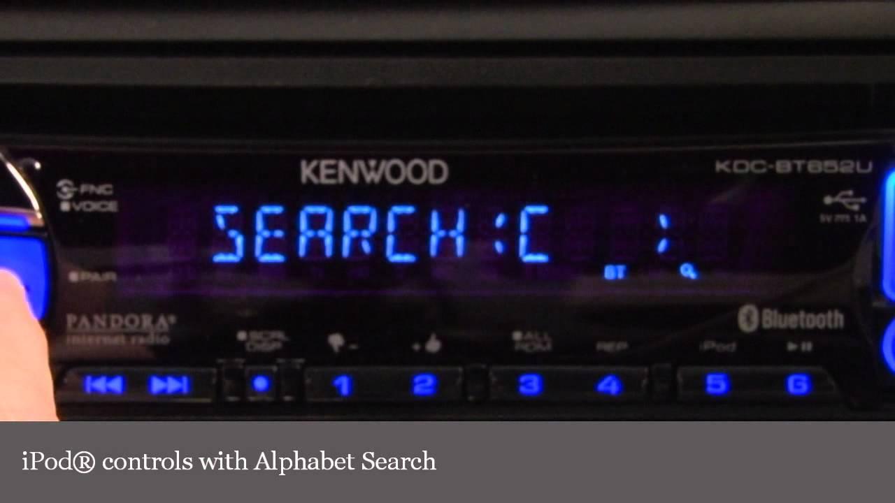 Kenwood Kdc Bt652u Cd Receiver Controls Display Demo Crutchfield Bt752hd Wiring Diagram Video