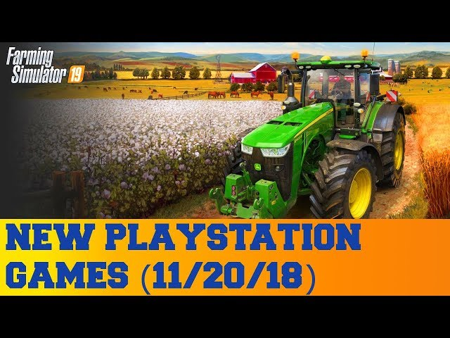 New PlayStation Games for November 20th 2018
