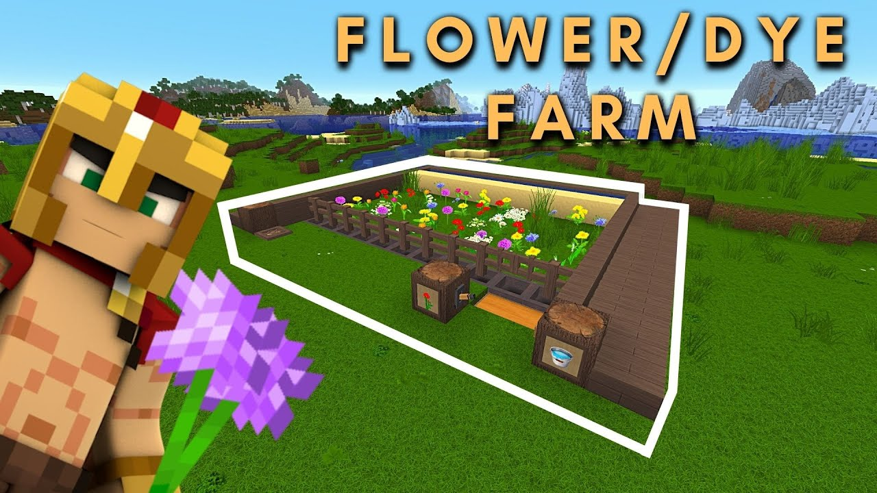 Minecraft Flower/Dye Farm Tutorial/Java & Bedrock Edition - 8.86/8.84
