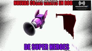 Nuevas Cosas Gratis En Roblox De SuperHeroes