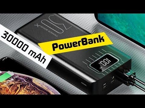 Огромный Внешний Аккумулятор 30 000 MAh PowerBank C 2 USB с AliExpress