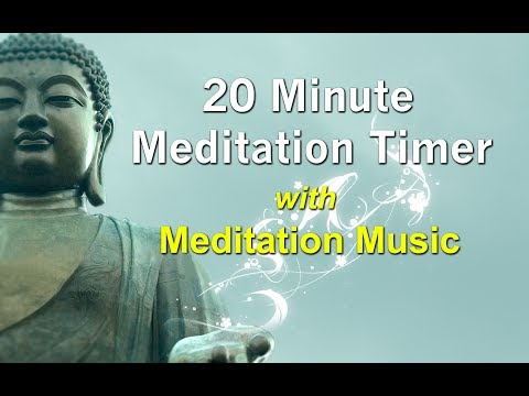 20 Minute Meditation Timer with Soft Relaxing Meditation Music