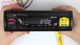 AUX | USB Автомагнітола SONY DSX-A35U. Відеоогляд avtozvuk.ua