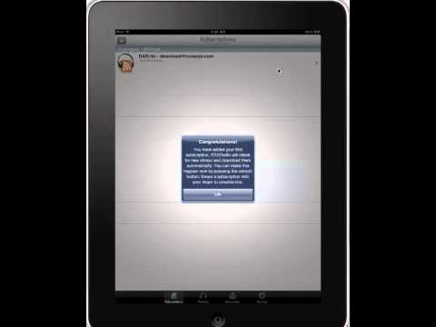 Download AM/FM radio shows directly to iPad