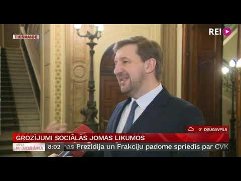 Grozījumi sociālās jomas likumos. Intervija ar Andreju Klementjevu