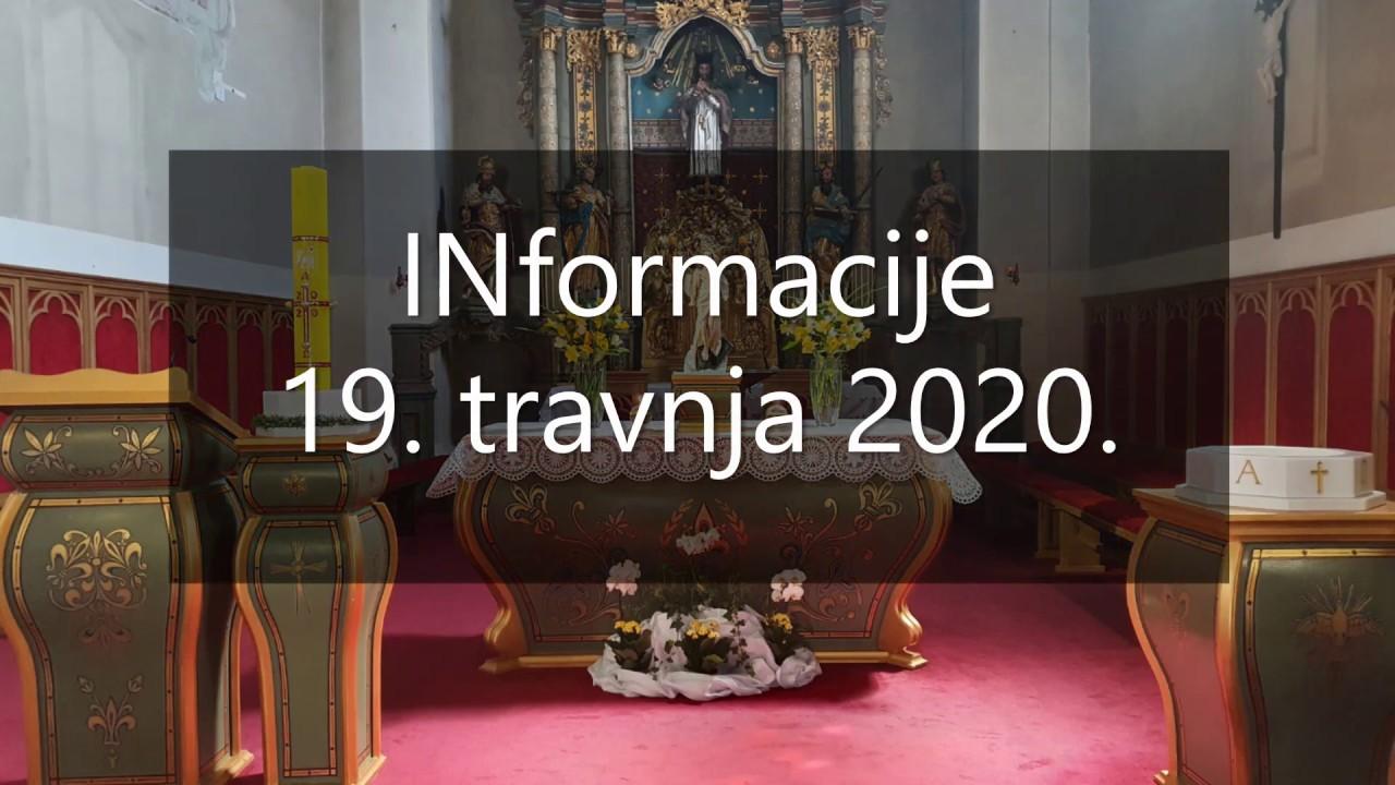 Informacije 19 Travnja 2020 Youtube