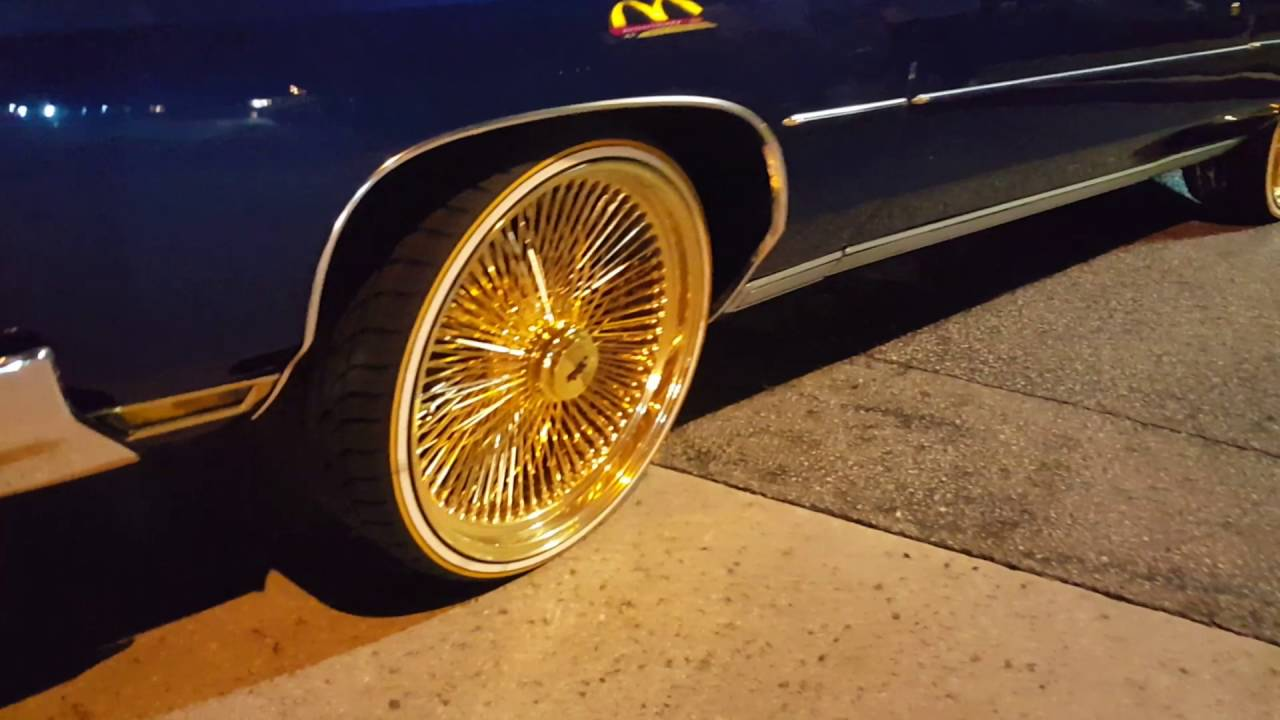 CANDY BLUE DONK VERT ON 24' ALL GOLD WITH VOGUE TIRES ...