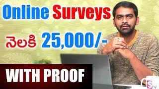Best Website to Earn Online With Proof | Online Surveys 2018 | SumanTV Money