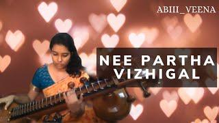 Nee Partha vizhigal | 3 | dhanush songs | Shruthi Hassan | Anirudh songs| veena cover by #Abi_veena