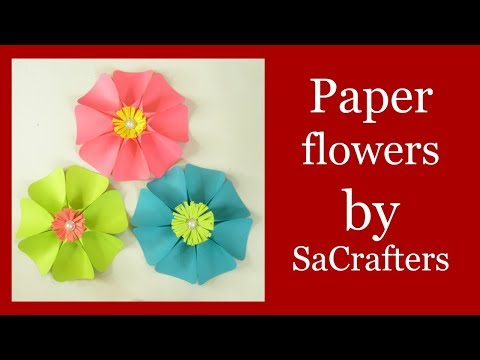 Paper flowers tutorial by SaCrafters (hand cut)