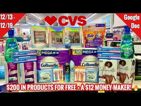 CVS Free & Cheap Coupon Deals & Haul | 12/13 – 12/19 | $200 in Products FREE + $ A 12 MONEY MAKER 🔥