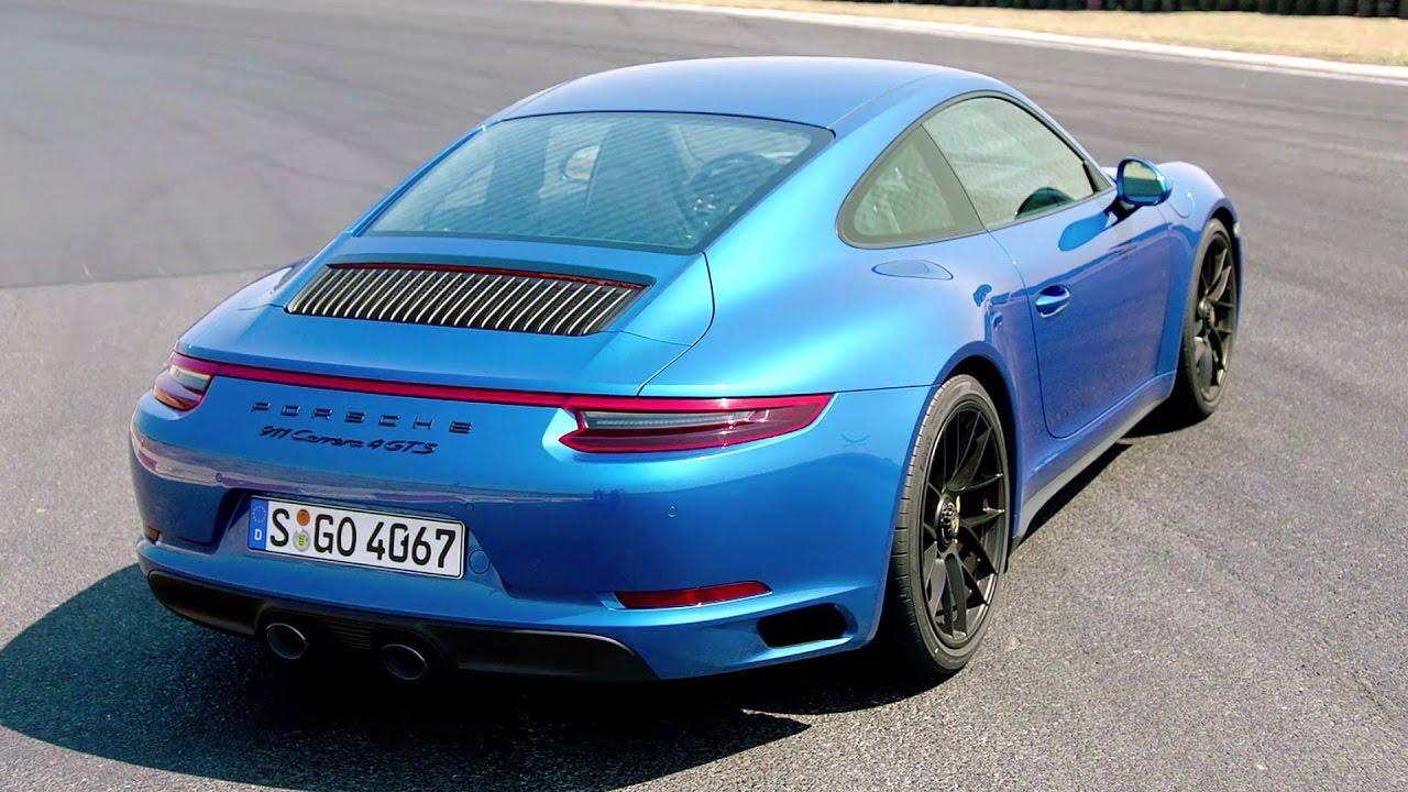 Porsche 911 Carrera 4 Gts Sapphire Blue Awesome Drive 450 Hp Youtube