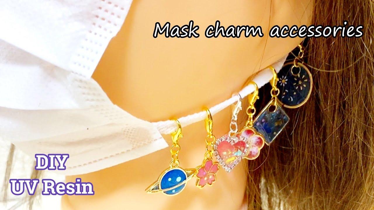 【UVレジン】簡単に100均のフレームを使って色々なマスクチャームを作ってみました!resin DIY Mask charm accessories