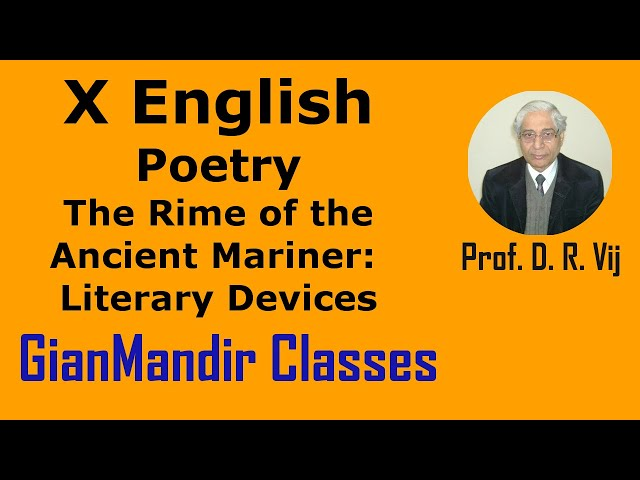 X English | Poetry | The Rime of the Ancient Mariner(S.T.Coleridge) | Literary Devices by Puja Ma'am