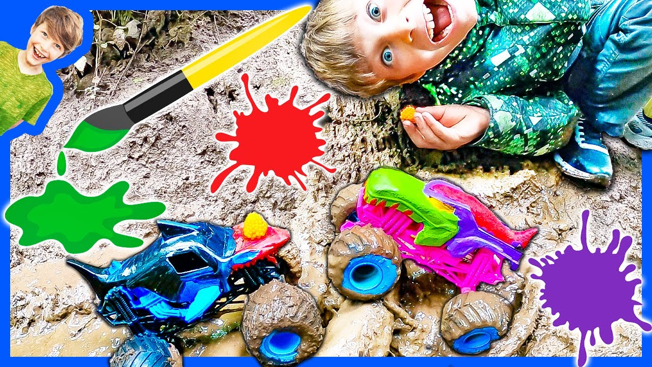 Painting Monster Trucks in the Mud