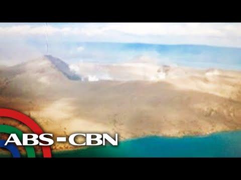 TINGNAN: Itsura Ng Bunganga Ng Bulkang Taal Mula Sa Himpapawid | TV Patrol