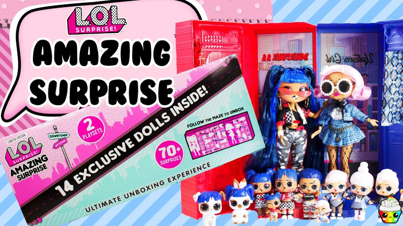 New L.o.l amazing surprise 14 doll set