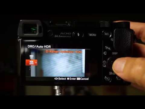Dynamic Range Optimization on Sony Cameras a6000 A7 A7R - how to