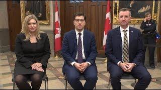 Conservative MPs discuss Scheer resignation