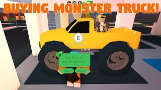ROBLOX JAILBREAK BUYING THE MONSTER TRUCK!