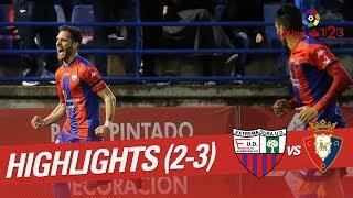 Resumen de Extremadura UD vs CA Osasuna (2-3)