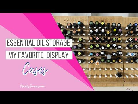 Essential Oil Storage - My Favorite Essential Oil Display Cases