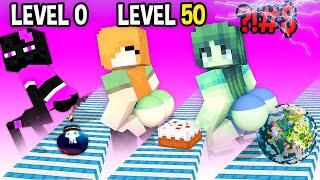 Monster School: Twerk Blast Mobile Game Max Level LVL Noob Pro Hacker  - Minecraft Animation