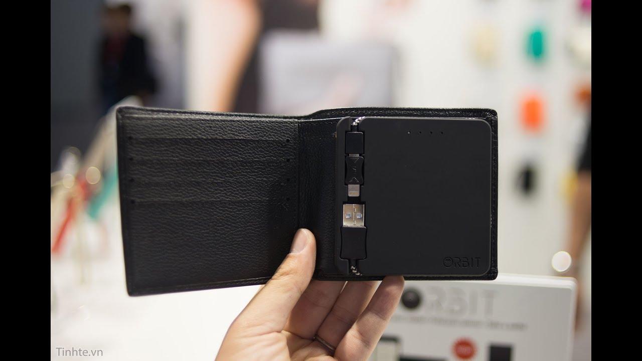 Trên tay ví thông minh kiêm pin dự phòng HButler